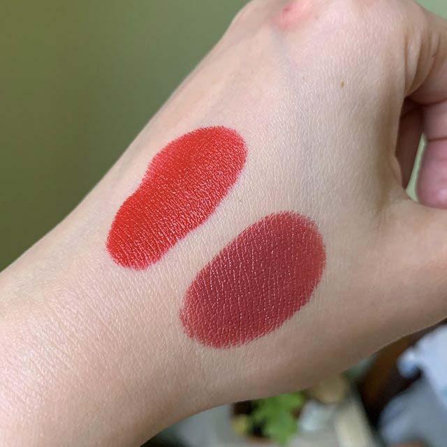 雅诗兰黛金管唇膏#305#204号试色,两款美翻天的玫瑰色