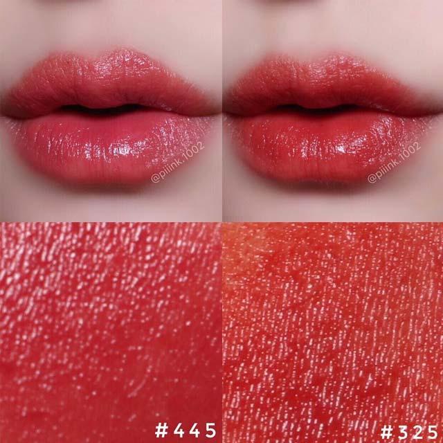 露华浓Revlon经典璀璨唇膏#325#445色号试色,暗夜玫瑰与干燥玫瑰色